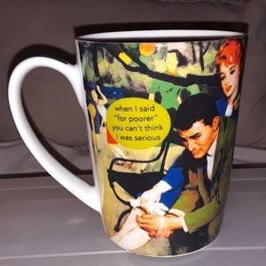 "Anne taintor porcelain ""for poorer"" mug"